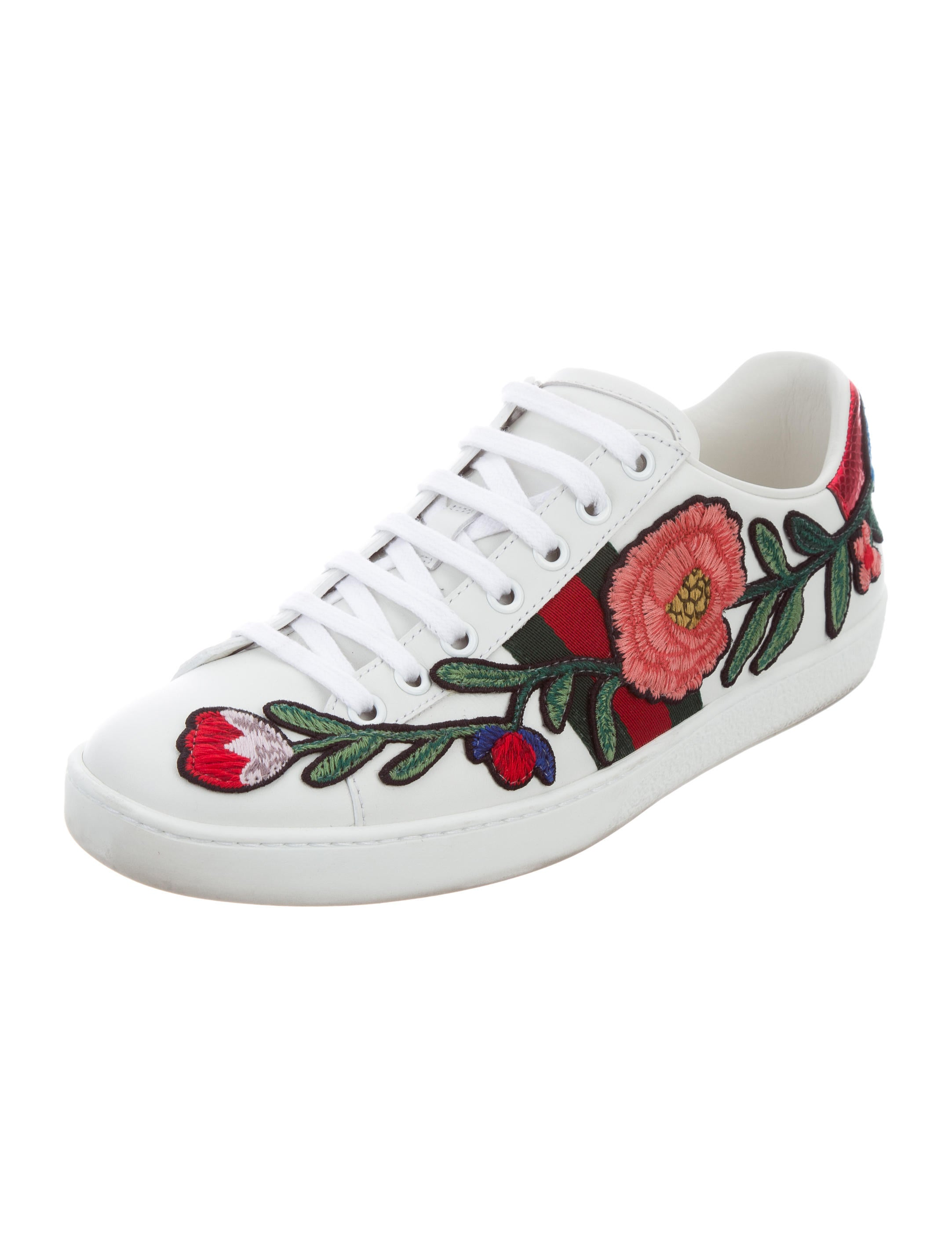 gucci 2017 new ace floral sneakers - shoes