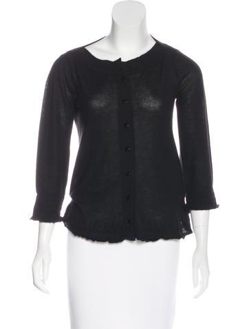 Gucci Cashmere Button-Up Top None