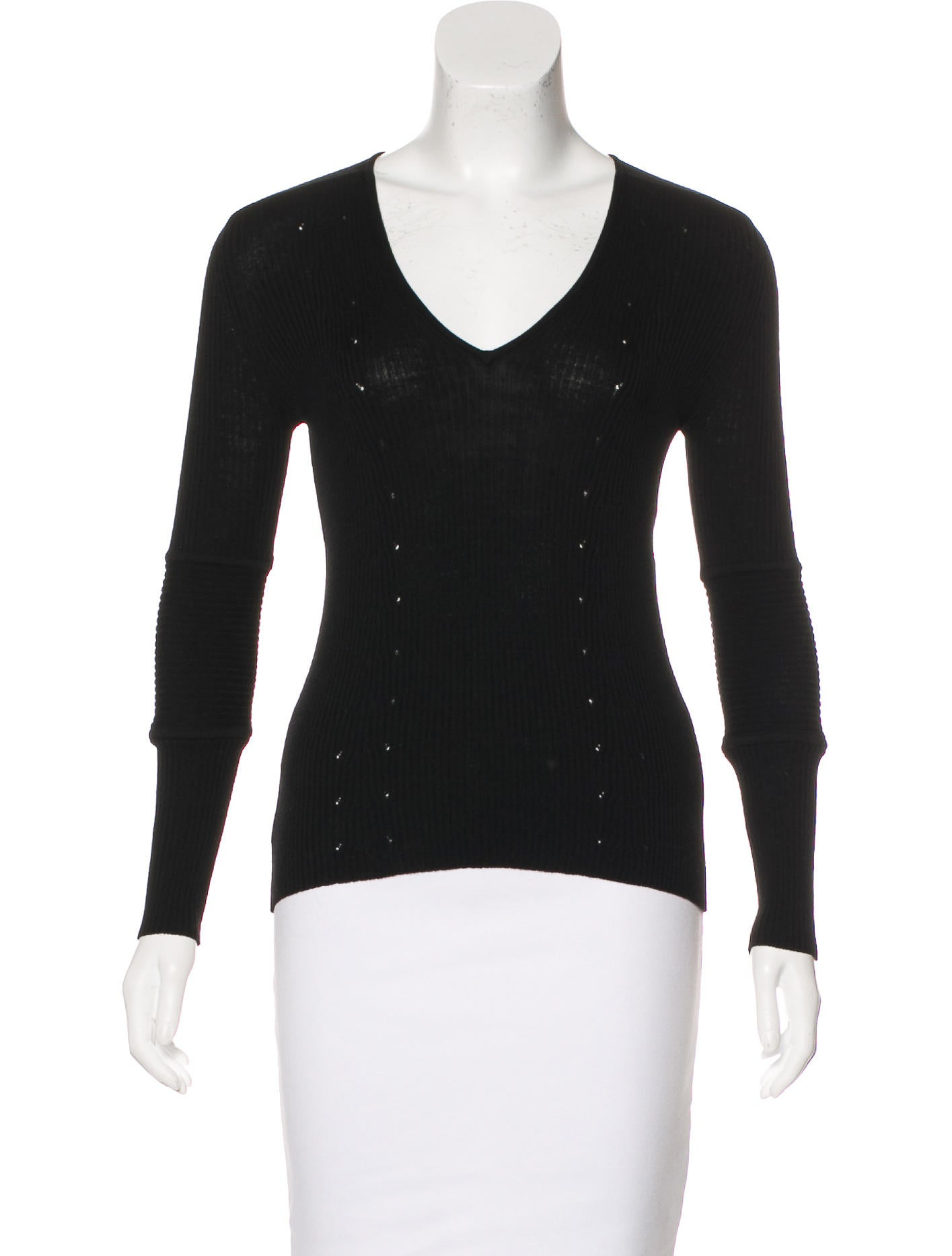 Gucci wool knit top clothing guc166967 the realreal for Best wool shirt jackets