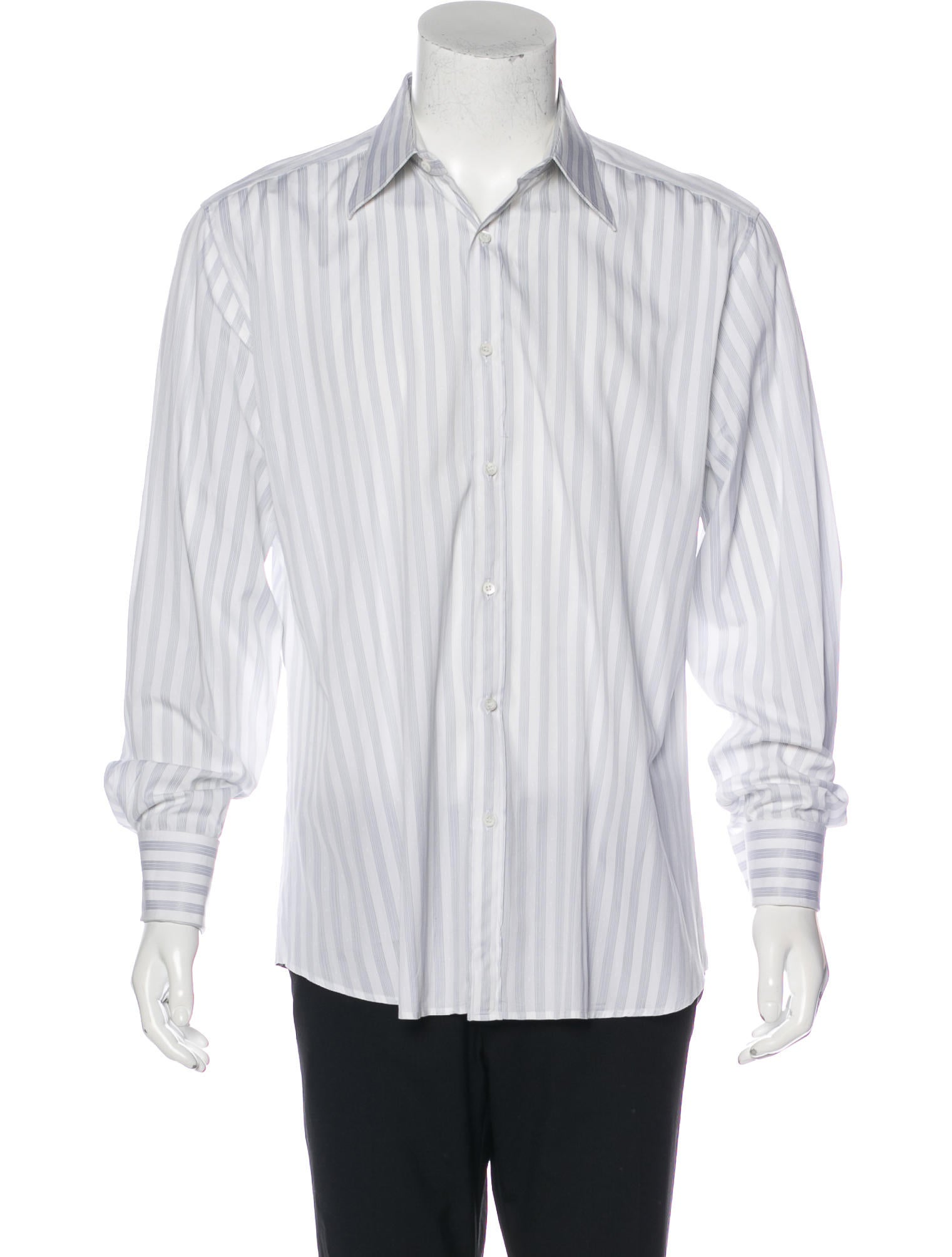 gucci striped french cuff shirt clothing guc166999