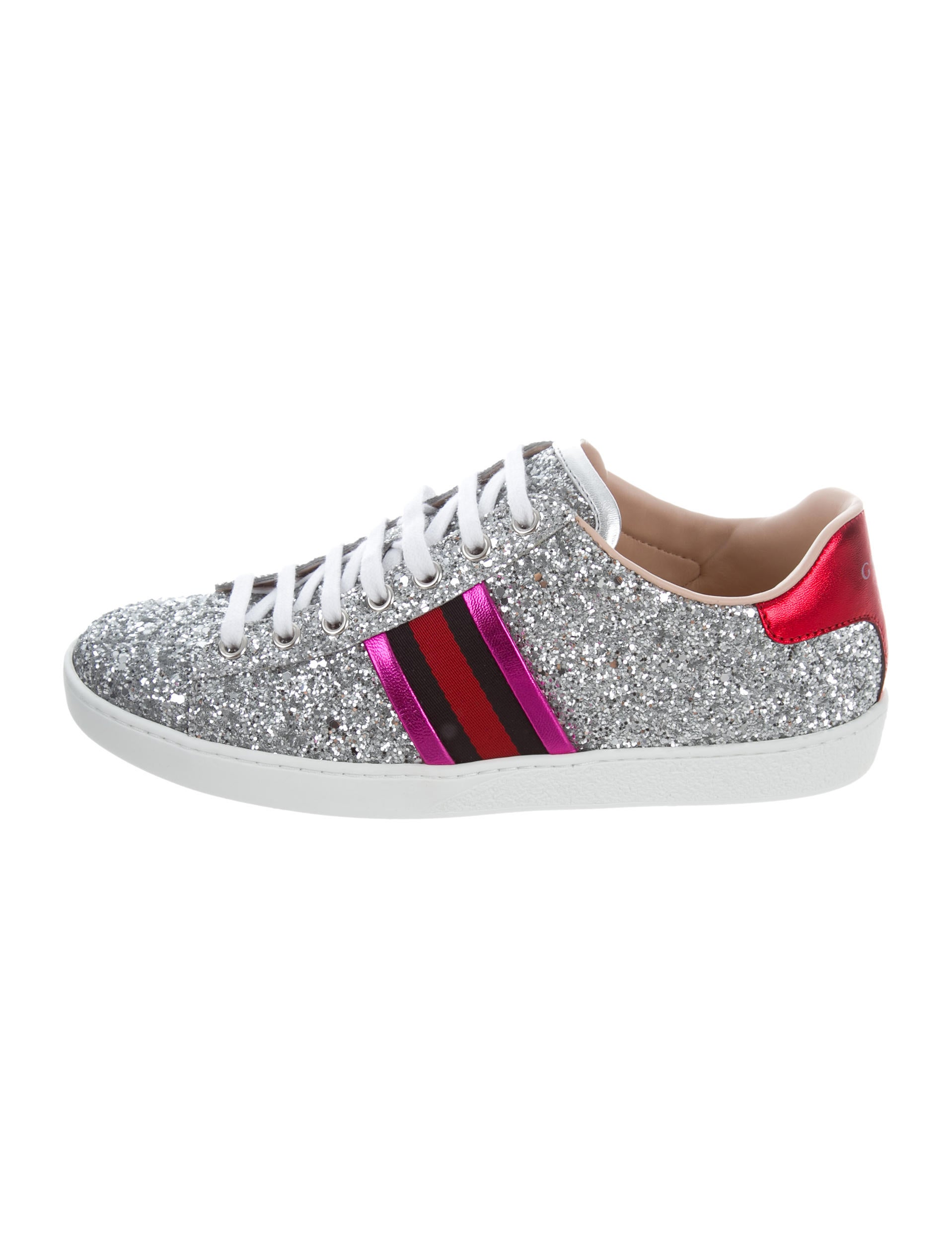 Gucci Glitter Web Sneakers w/ Tags - Shoes - GUC167234 | The RealReal