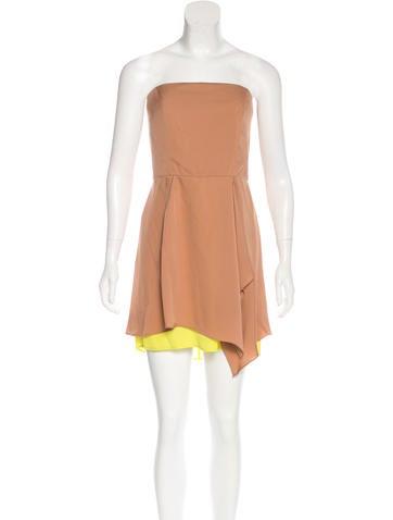 Gucci Silk Strapless Dress None