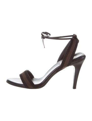 Gucci Web Tie Sandals None