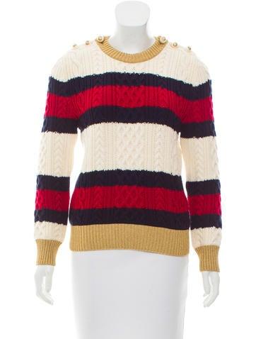 Gucci 2017 Striped Wool Sweater None