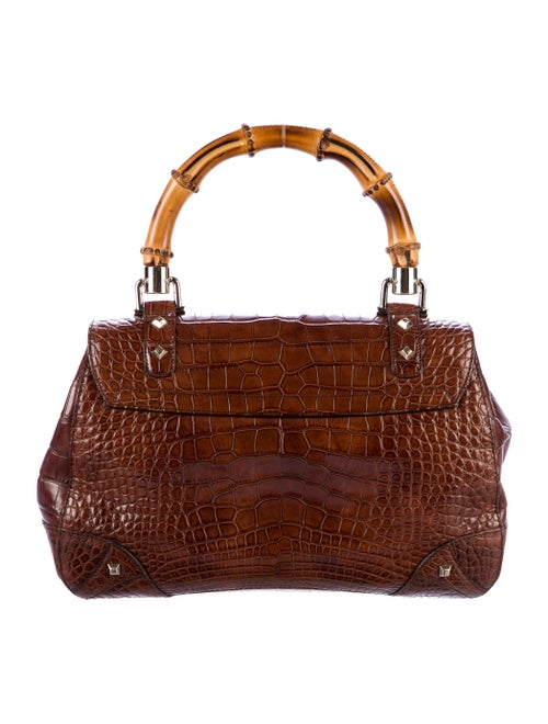 11af4336 Gucci Bamboo Top Handle Alligator Bag - Handbags - GUC168296 | The ...