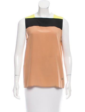 Gucci Colorblock Silk Top None