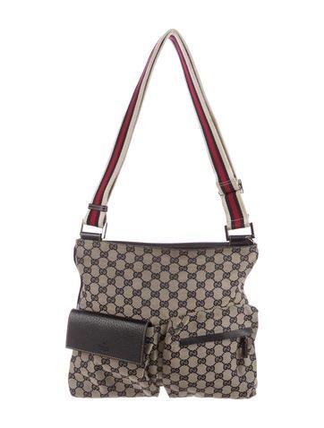 gucci crossbody bag. gucci gg canvas messenger bag crossbody