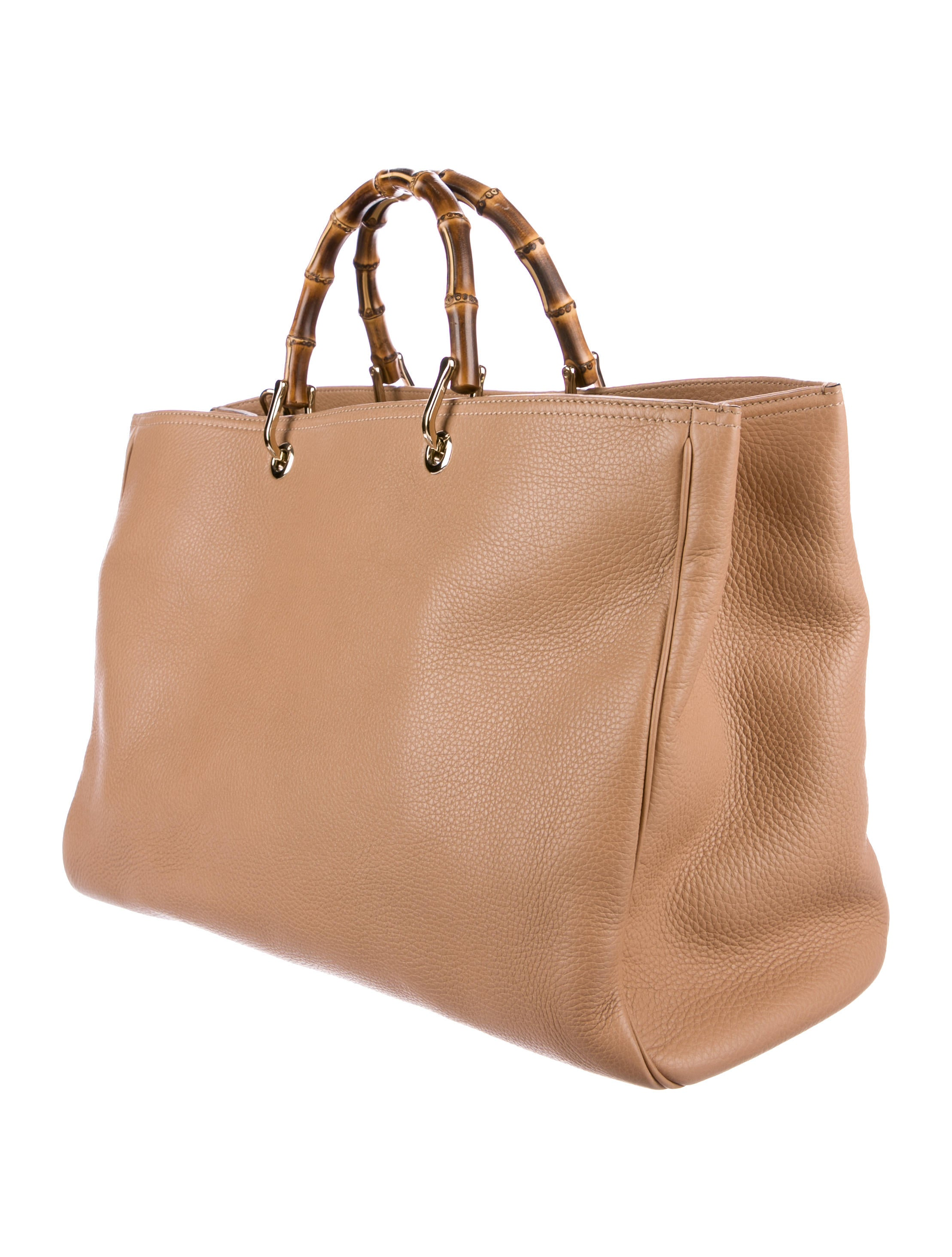 gucci large bamboo shopper tote handbags guc168523 the realreal. Black Bedroom Furniture Sets. Home Design Ideas