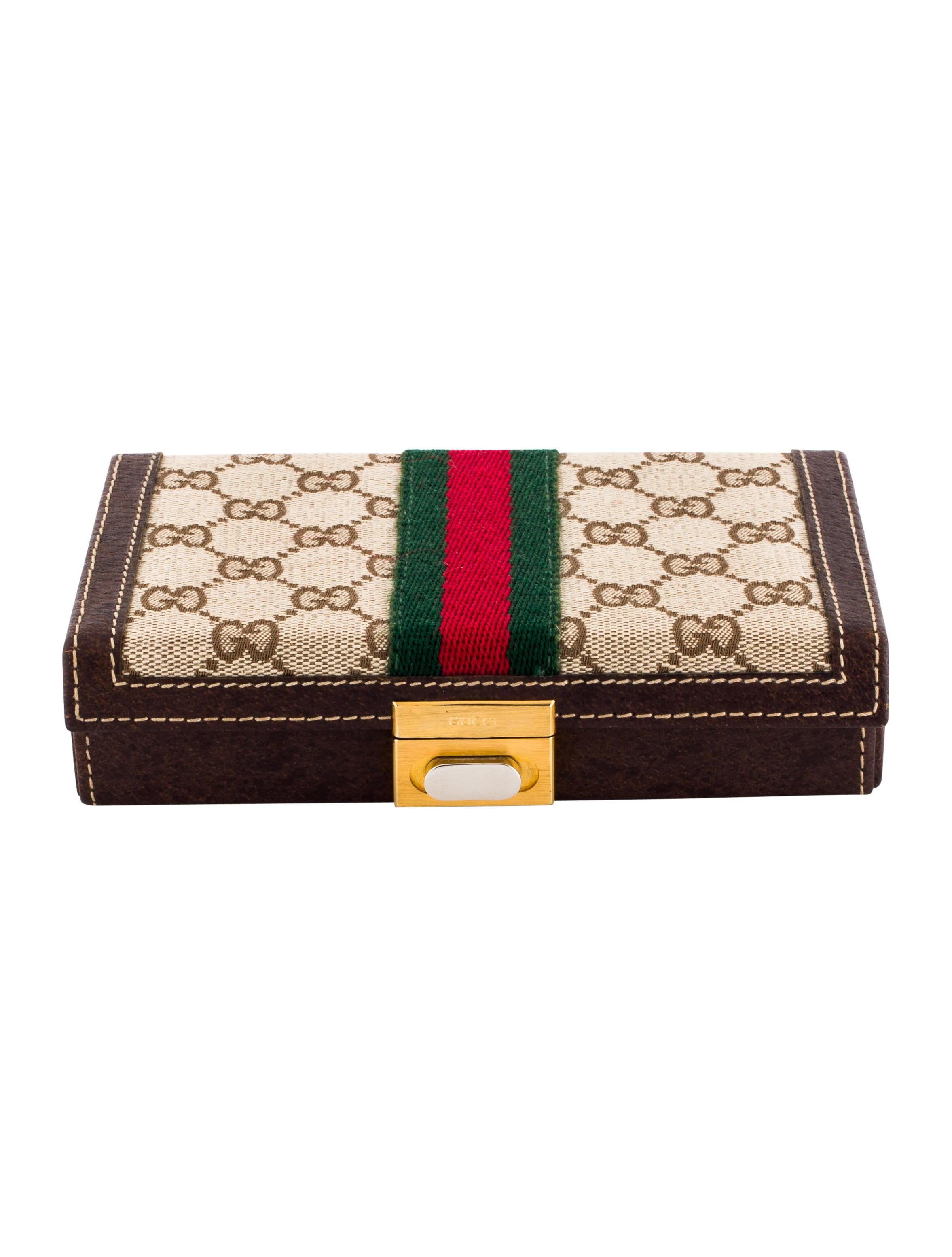 Gucci Gg Supreme Jewelry Box Decor And Accessories Guc168529 The Realreal