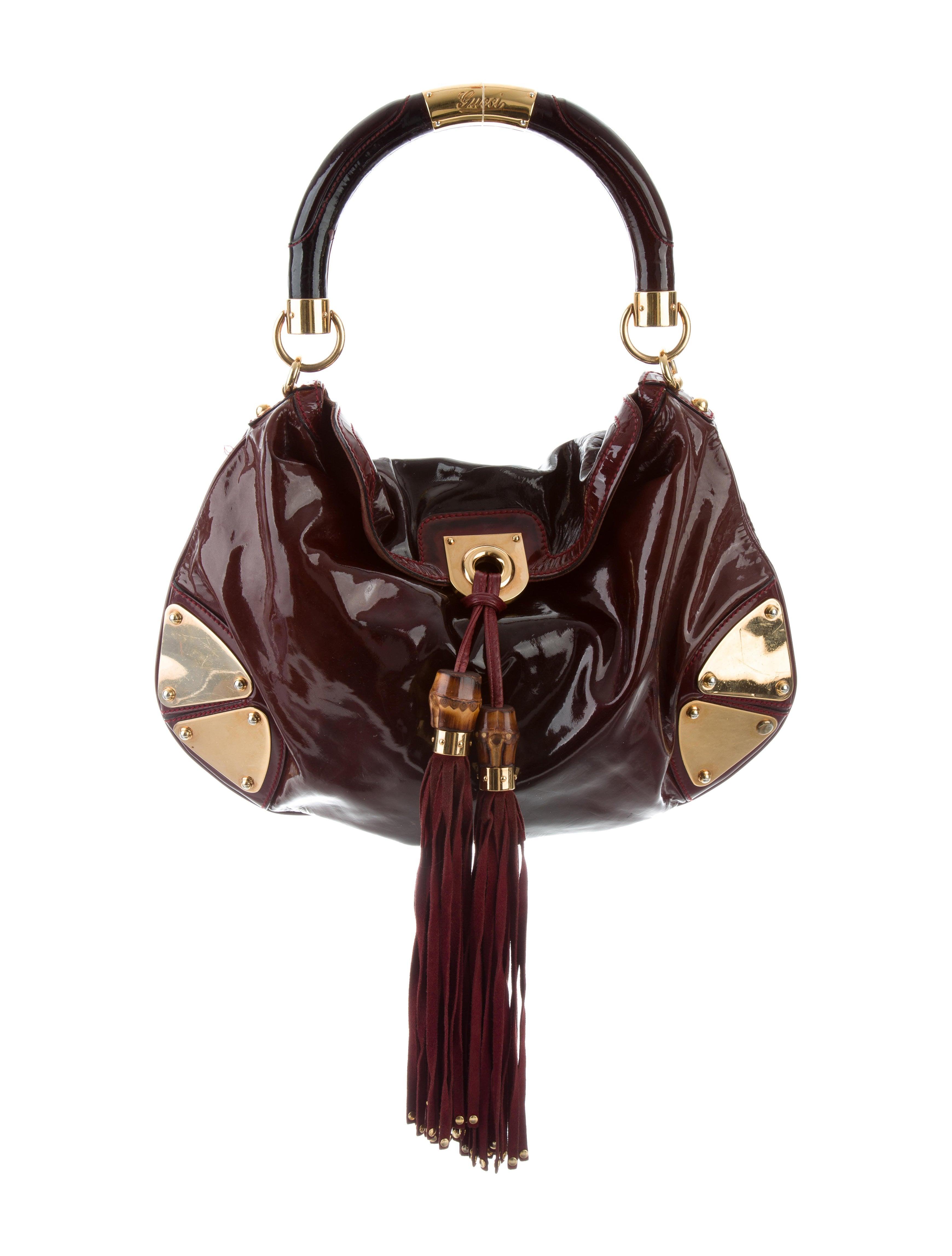 6b29e47e263 Gucci Patent Medium Indy Bag Handbags Guc168974 The Realreal. Gucci Black  Suede Medium Babouska Indy Top Handle Bag