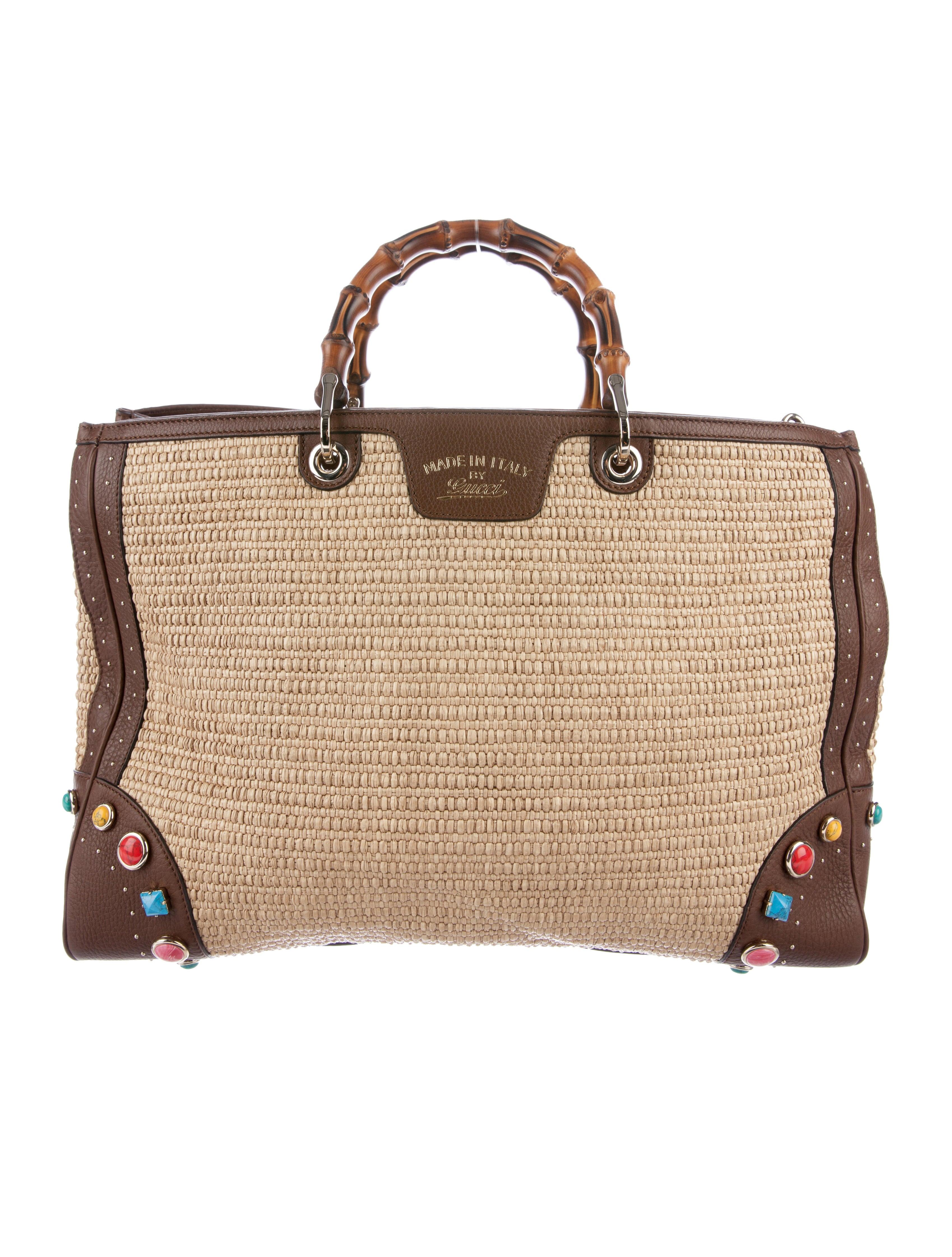 gucci bamboo shopper tote handbags guc169391 the realreal. Black Bedroom Furniture Sets. Home Design Ideas