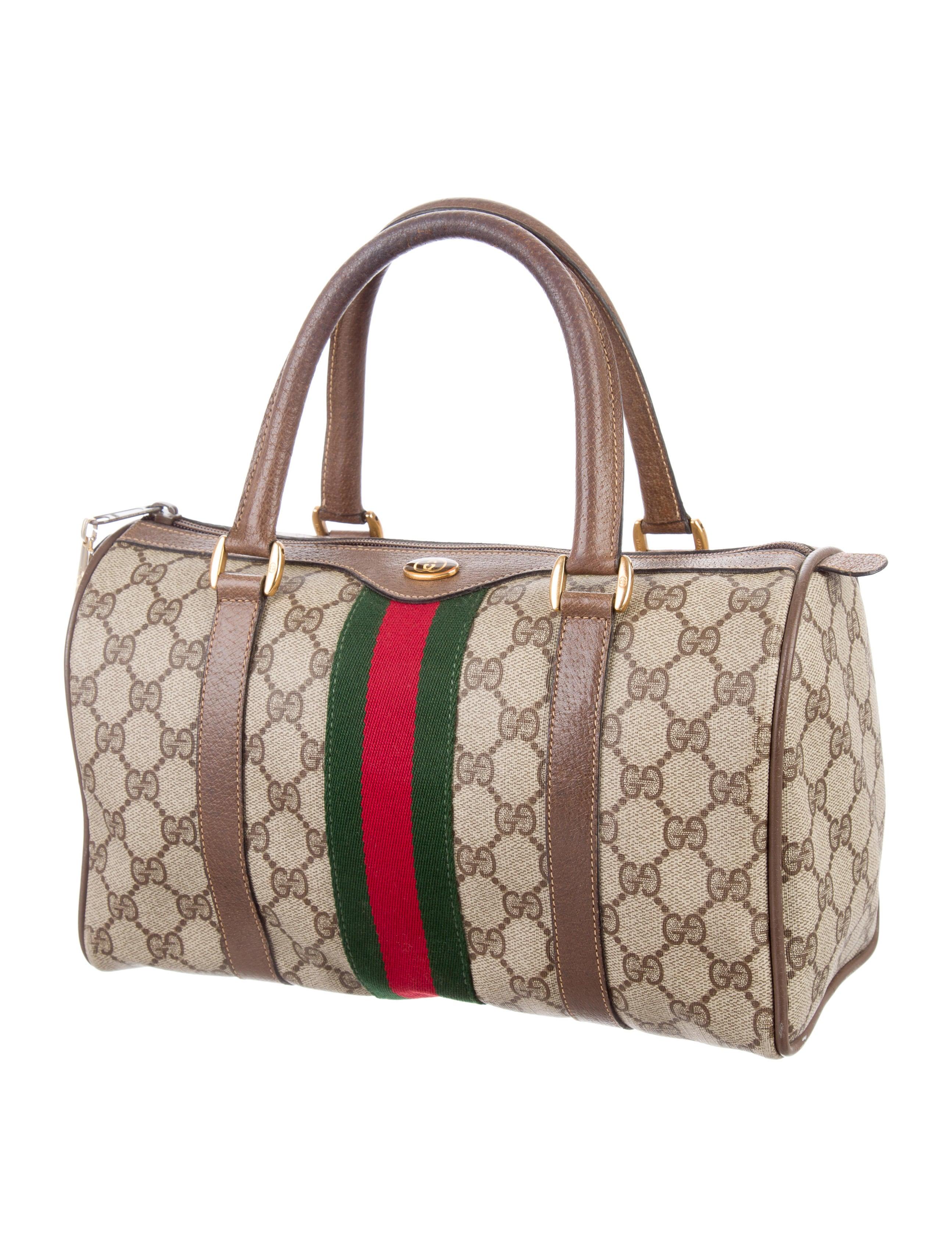 Boston Bag Patchwork Tutorial: Gucci Vintage GG Plus Web Boston Bag