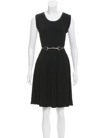 Gucci Embellished Fit & Flare Dress None