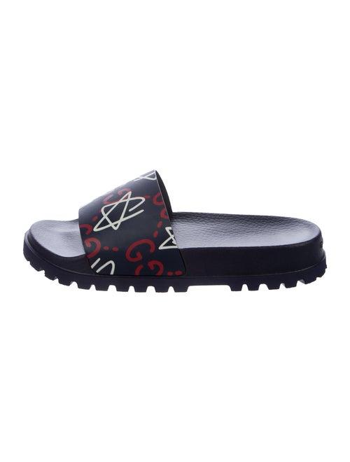 0fc06365a Gucci 2017 GucciGhost Pursuit Slide Sandals - Shoes - GUC169690 ...
