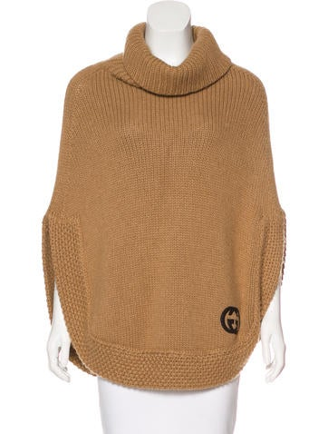 Gucci Camel Knit Poncho w/ Tags None