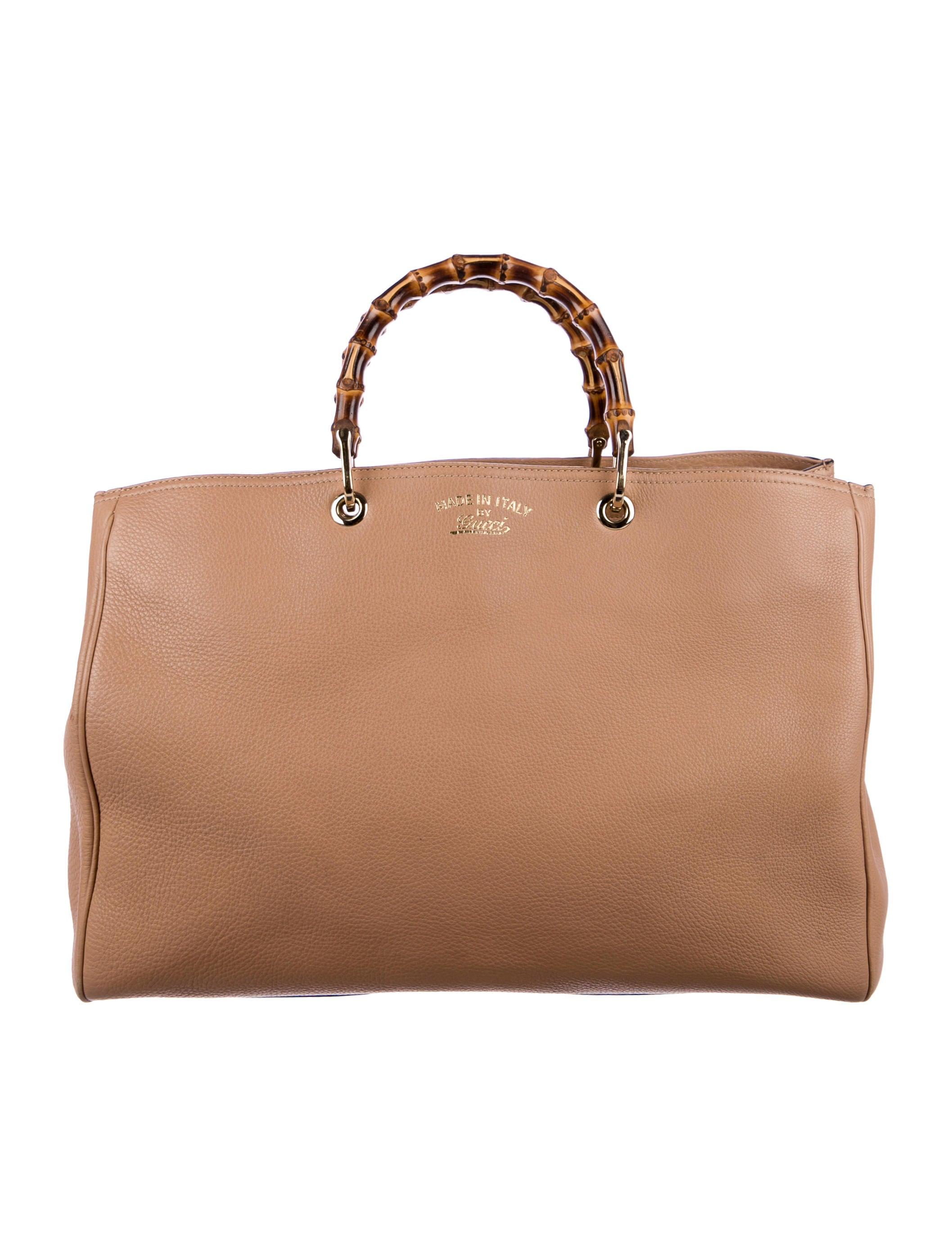 gucci bamboo shopper tote handbags guc170010 the realreal. Black Bedroom Furniture Sets. Home Design Ideas