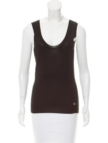 Gucci Sleeveless Cashmere Top None