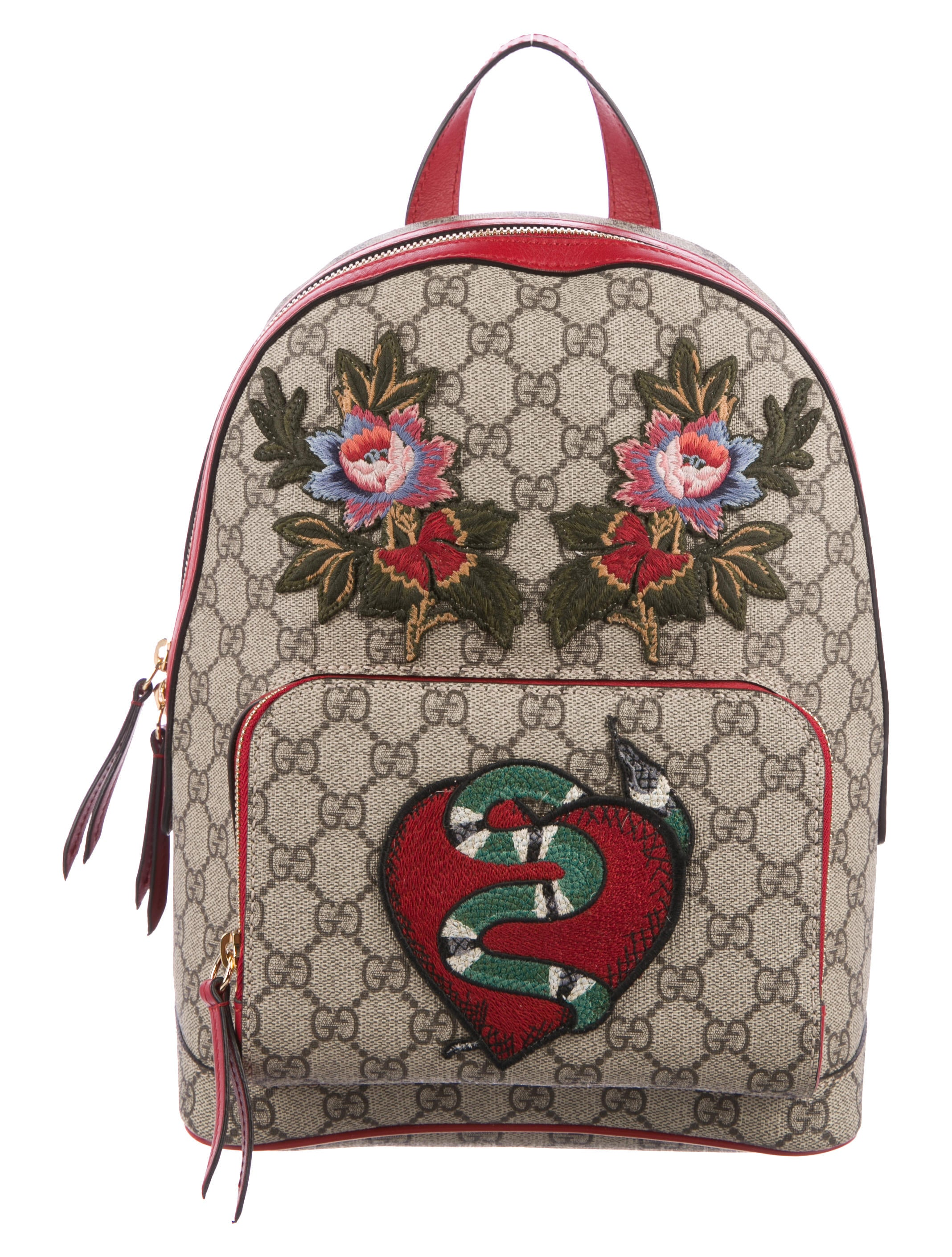 e2dfbecc625 Gucci GG Supreme Embroidered Backpack - Handbags - GUC171080