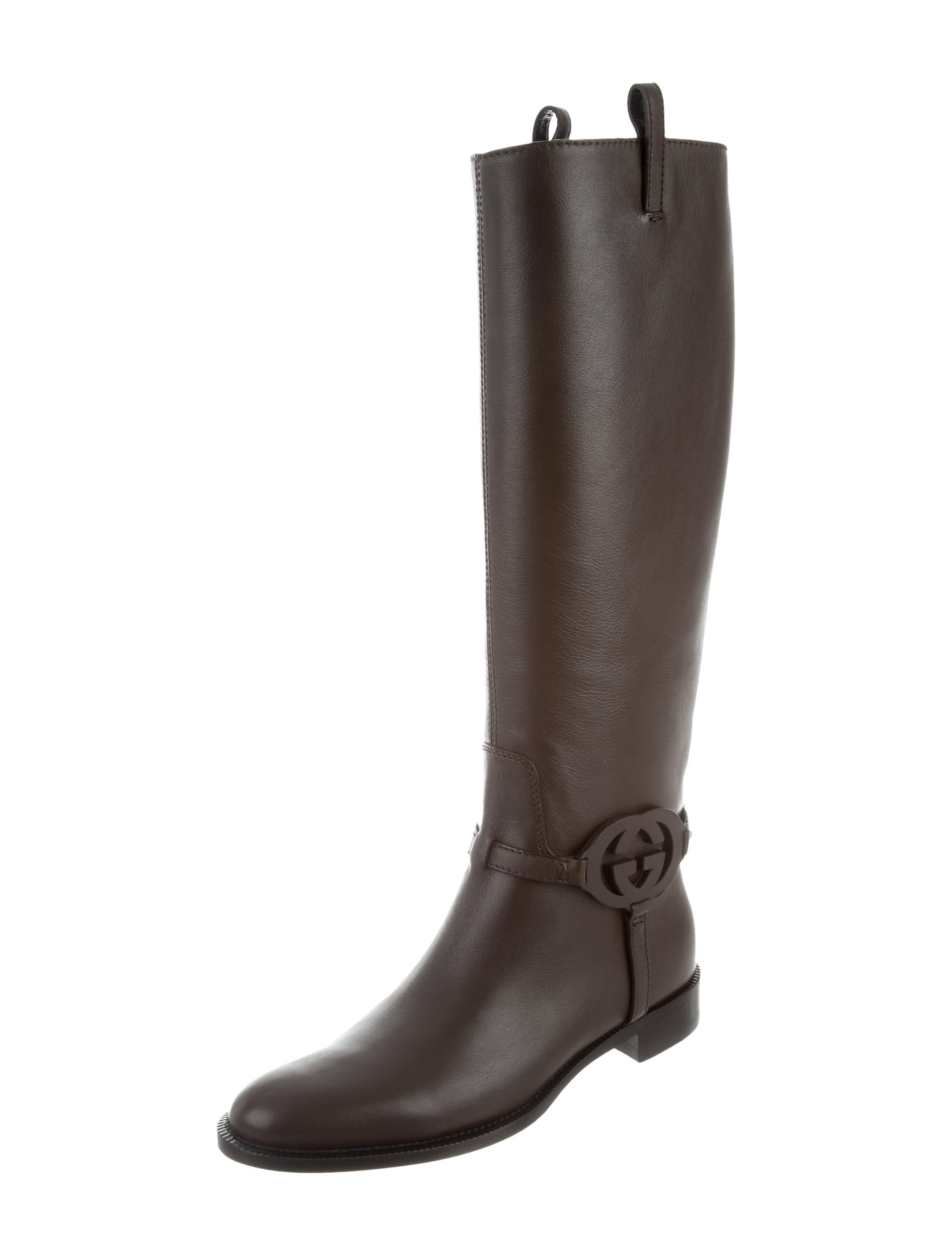79113519792 Gucci Leather Riding Boots w  Tags - Shoes - GUC171470 .
