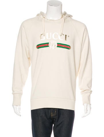 Gucci 2017 Embroidered Logo Hoodie None