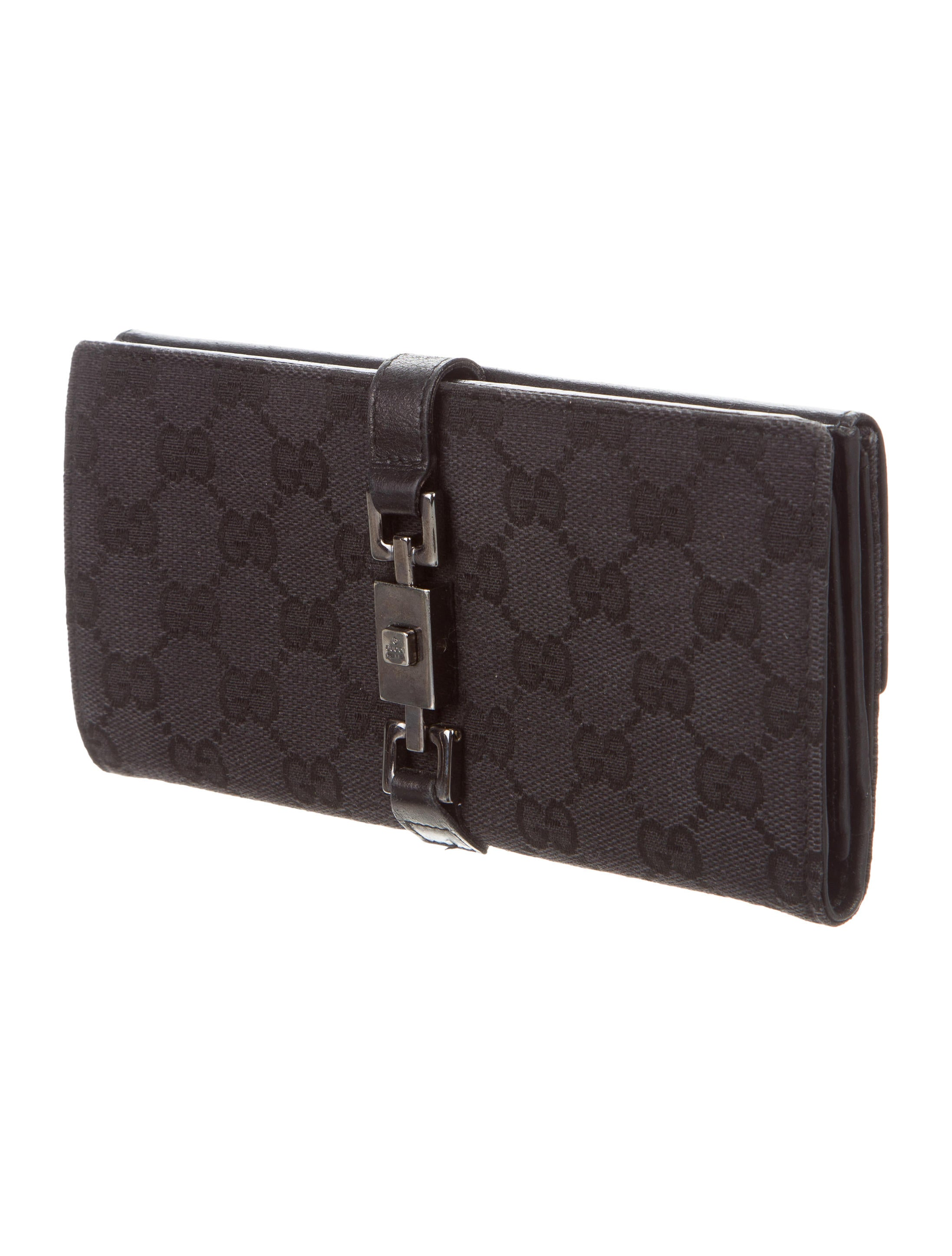 ae0a203f84fe4b Gucci Gg Black Canvas Wallet Womens | Stanford Center for ...