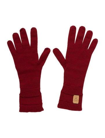 Gucci Wool Crest Gloves None