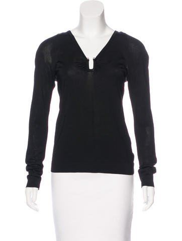 Gucci Embellished Long Sleeve Top None
