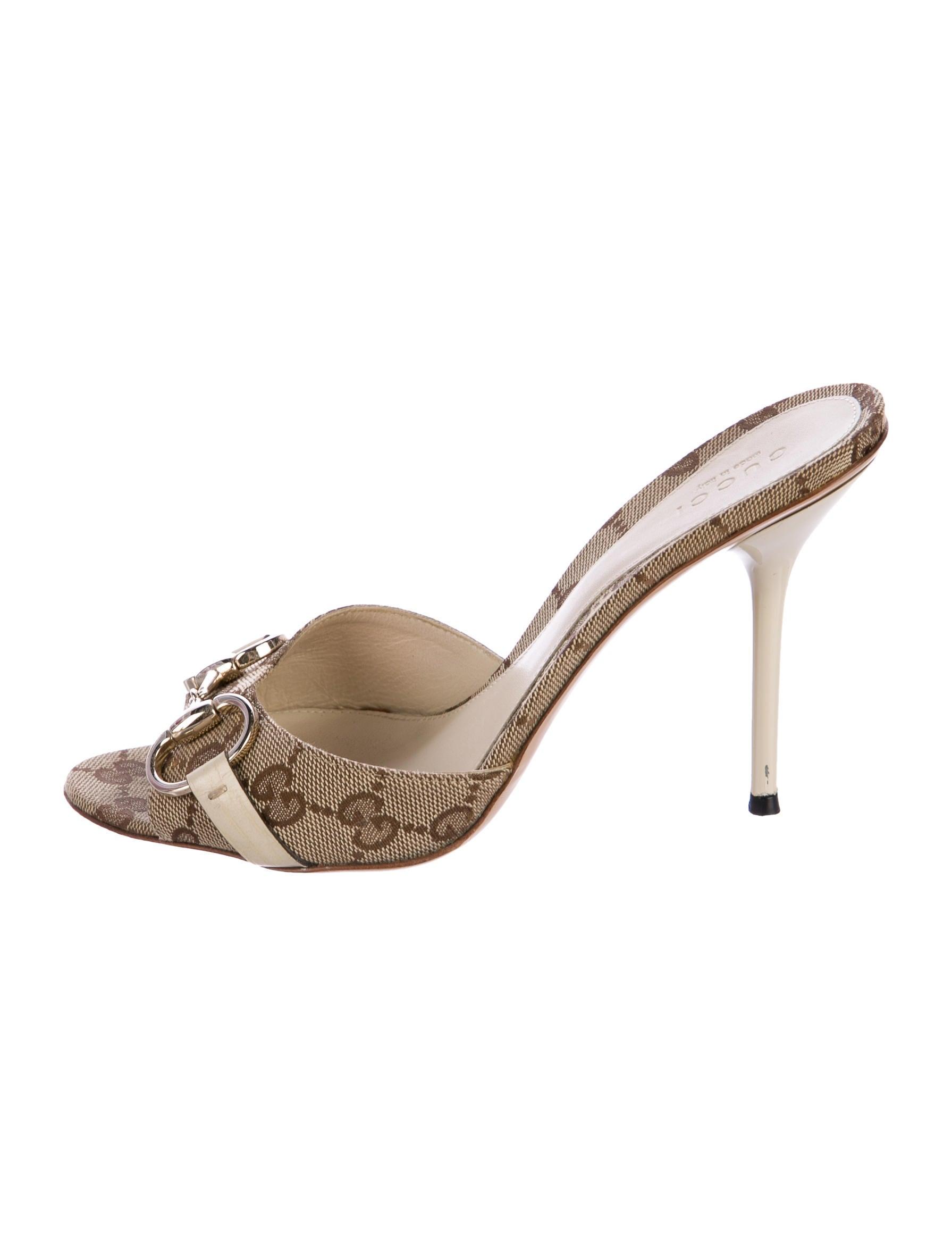 Gucci Guccissima Horsebit Slide Sandals Shoes