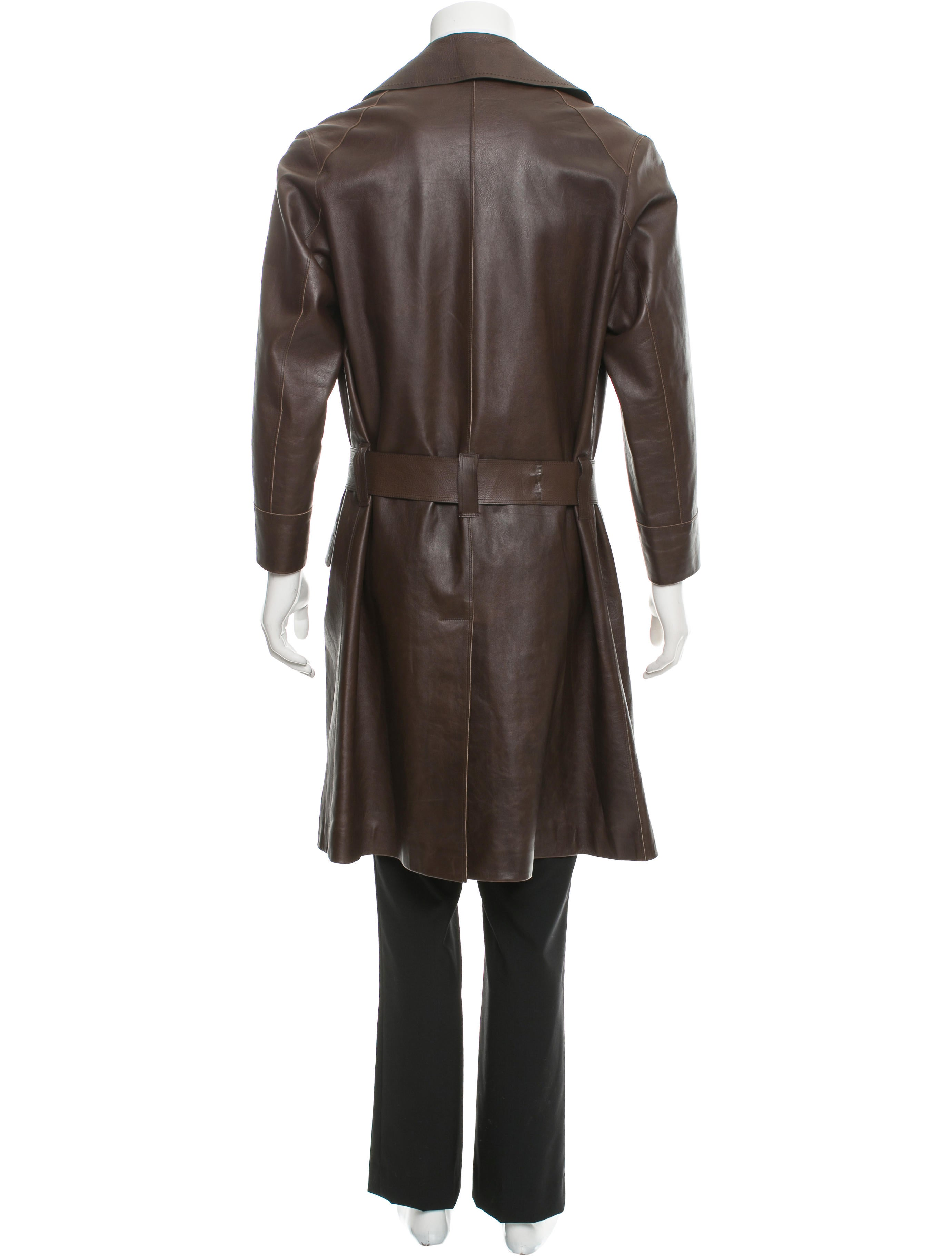 Leather overcoat