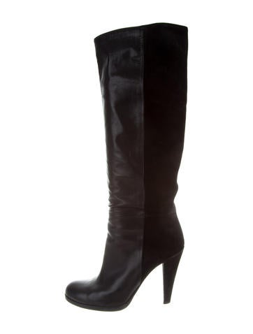 Gucci Leather Knee Boots None