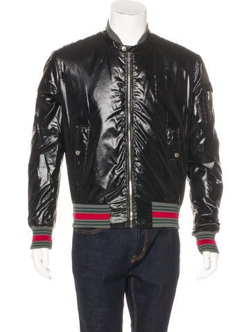 Gucci Web-Trimmed Bomber Jacket None