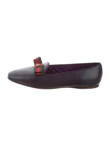 Gucci Web Bow Loafers None