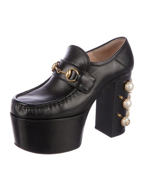 68cd25cf744 Gucci 2017 Studded Leather Horsebit Loafers - Shoes - GUC175082 ...