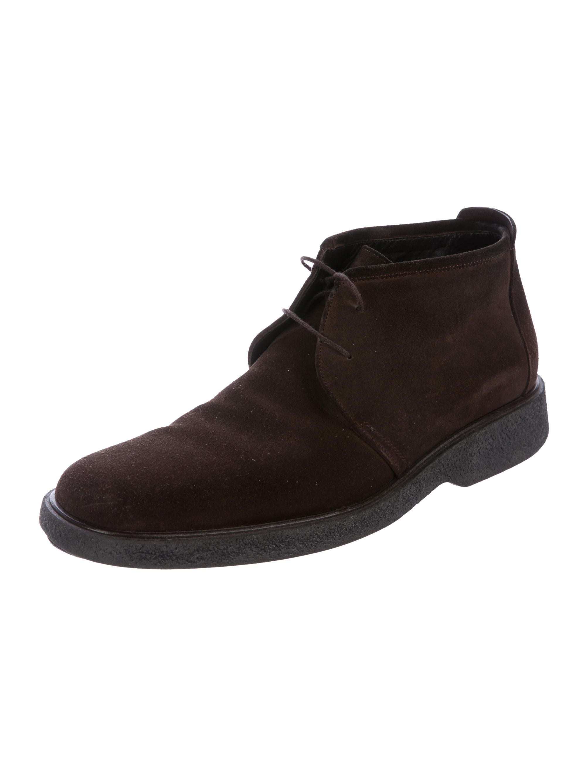 gucci suede desert boots shoes guc175141 the realreal