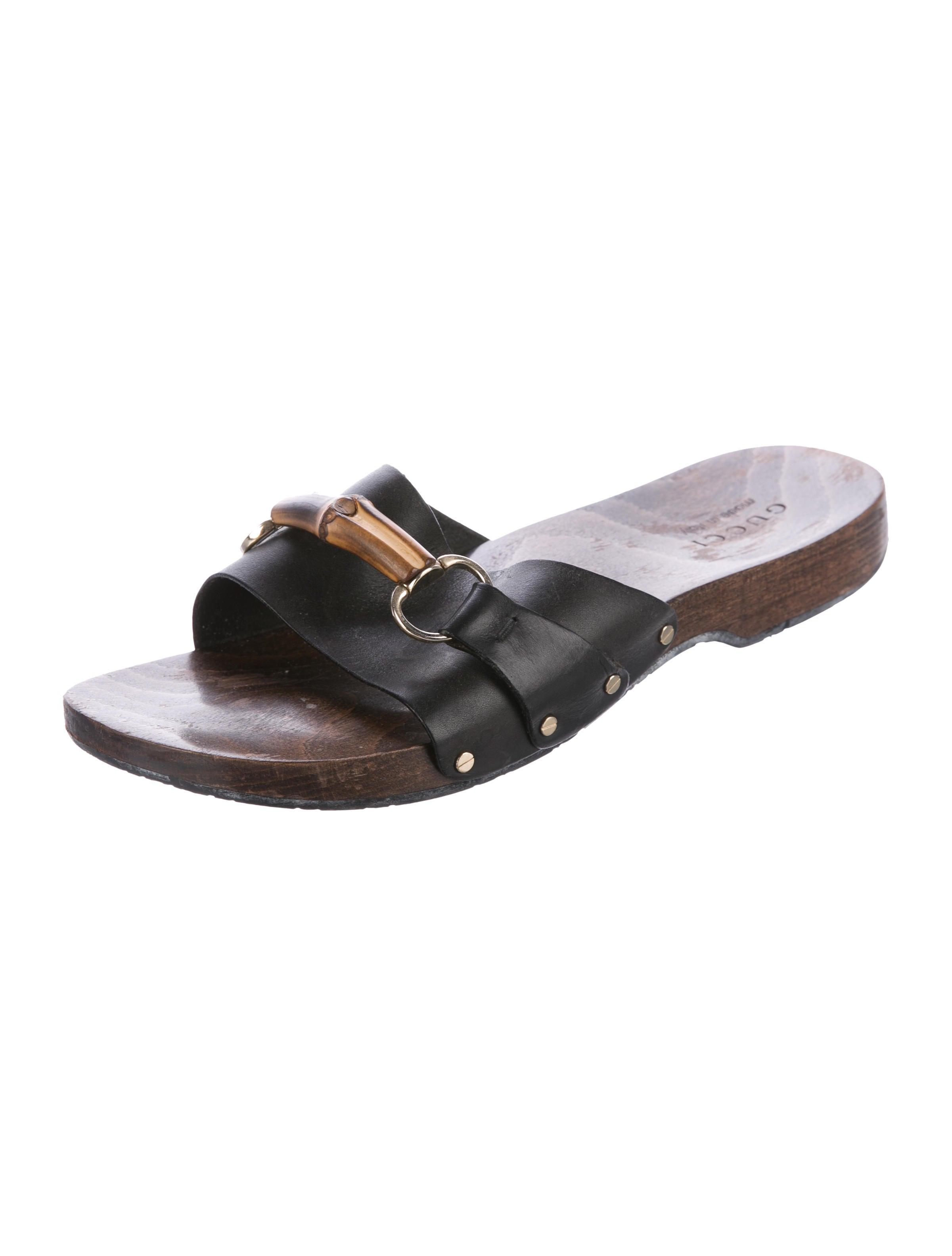 gucci leather bamboo horsebit sandals shoes guc175765
