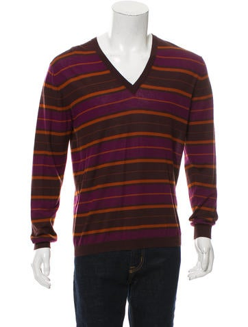 Gucci Cashmere Striped Sweater w/ Tags None