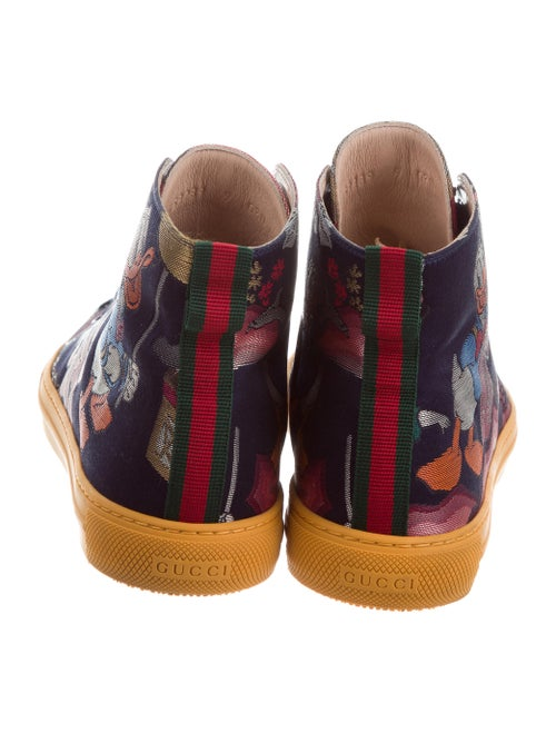 e49f96456c78 Gucci 2017 Donald Duck Jacquard Sneakers w  Tags - Shoes - GUC176346 ...