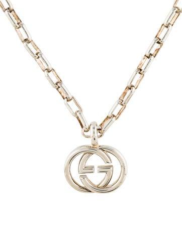 Gucci Logo Pendant Necklace Necklaces Guc177057 The