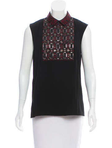 Gucci Embellished Sleeveless Top w/ Tags None
