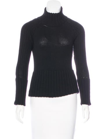 Gucci Rib Knit Turtleneck Sweater None