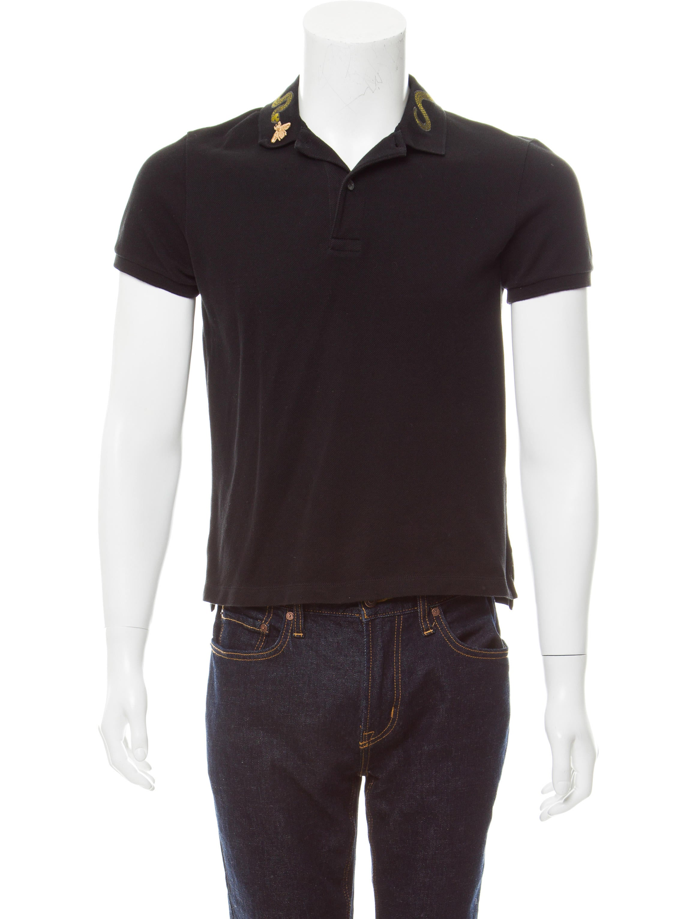 4becaf6c Gucci Kingsnake Embroidered Polo - Clothing - GUC177622 | The RealReal