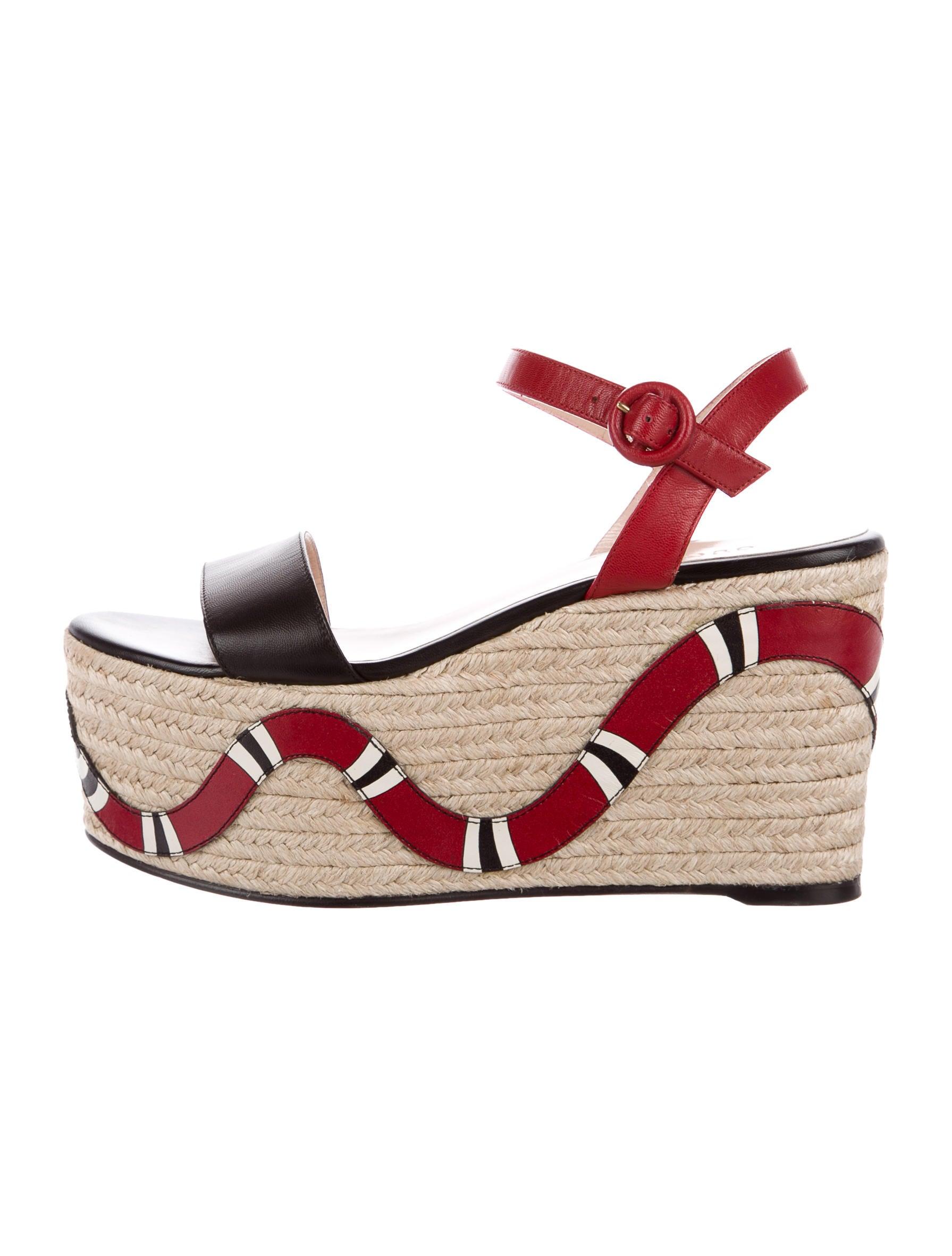 a6d4faba60e18 Gucci Barbette Kingsnake Espadrilles - Shoes - GUC177909