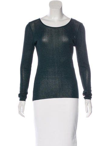 Gucci Metallic Rib Knit Sweater None
