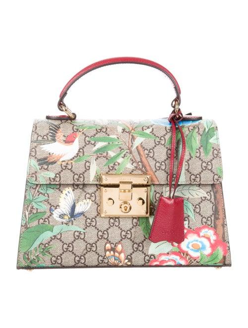 e35ed0f3e6e Gucci 2016 GG Supreme Tian Padlock Top Handle Bag - Handbags ...