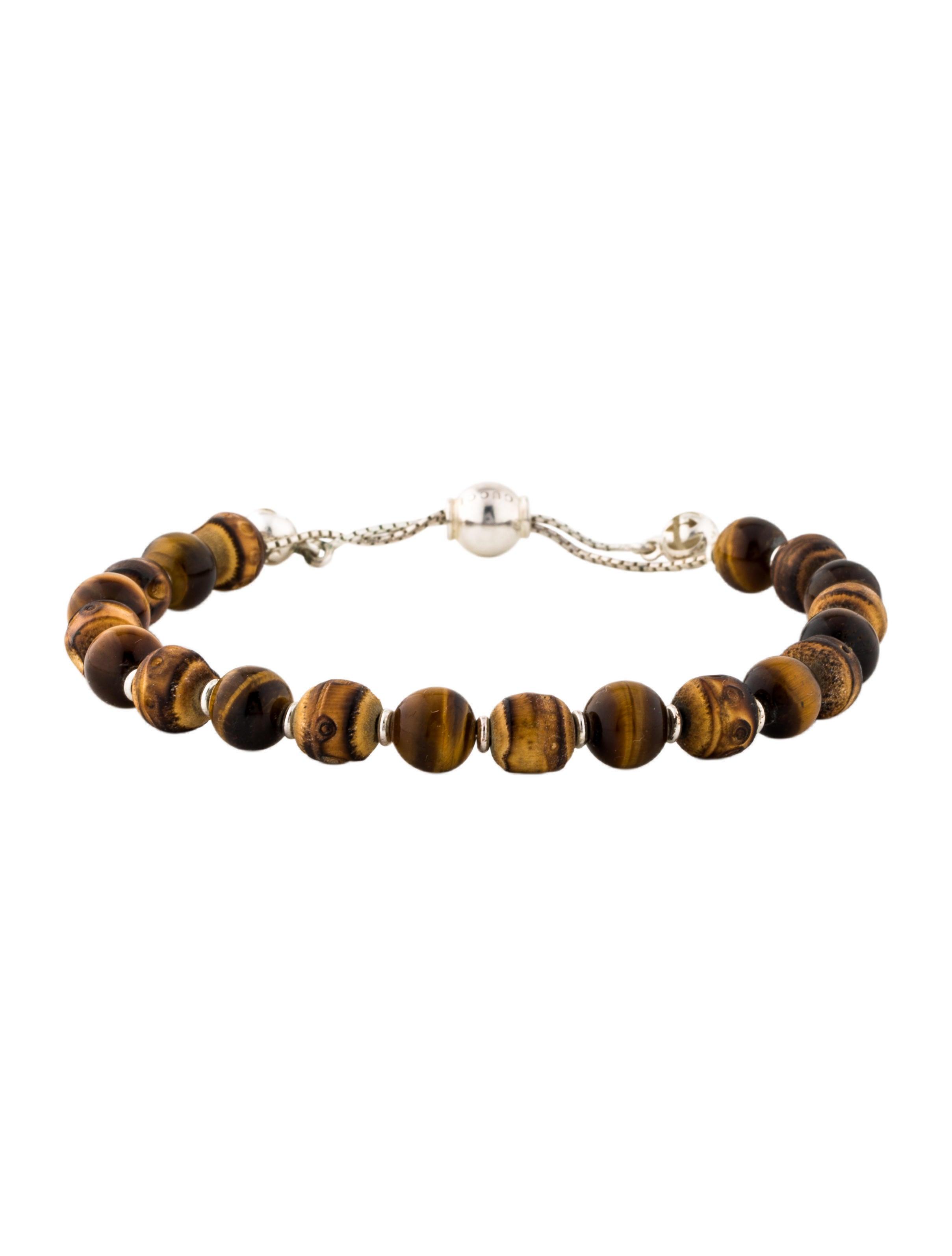 5e973b310 Gucci Boule Britt Bamboo Wood & Tiger Eye Bead Bracelet - Bracelets ...