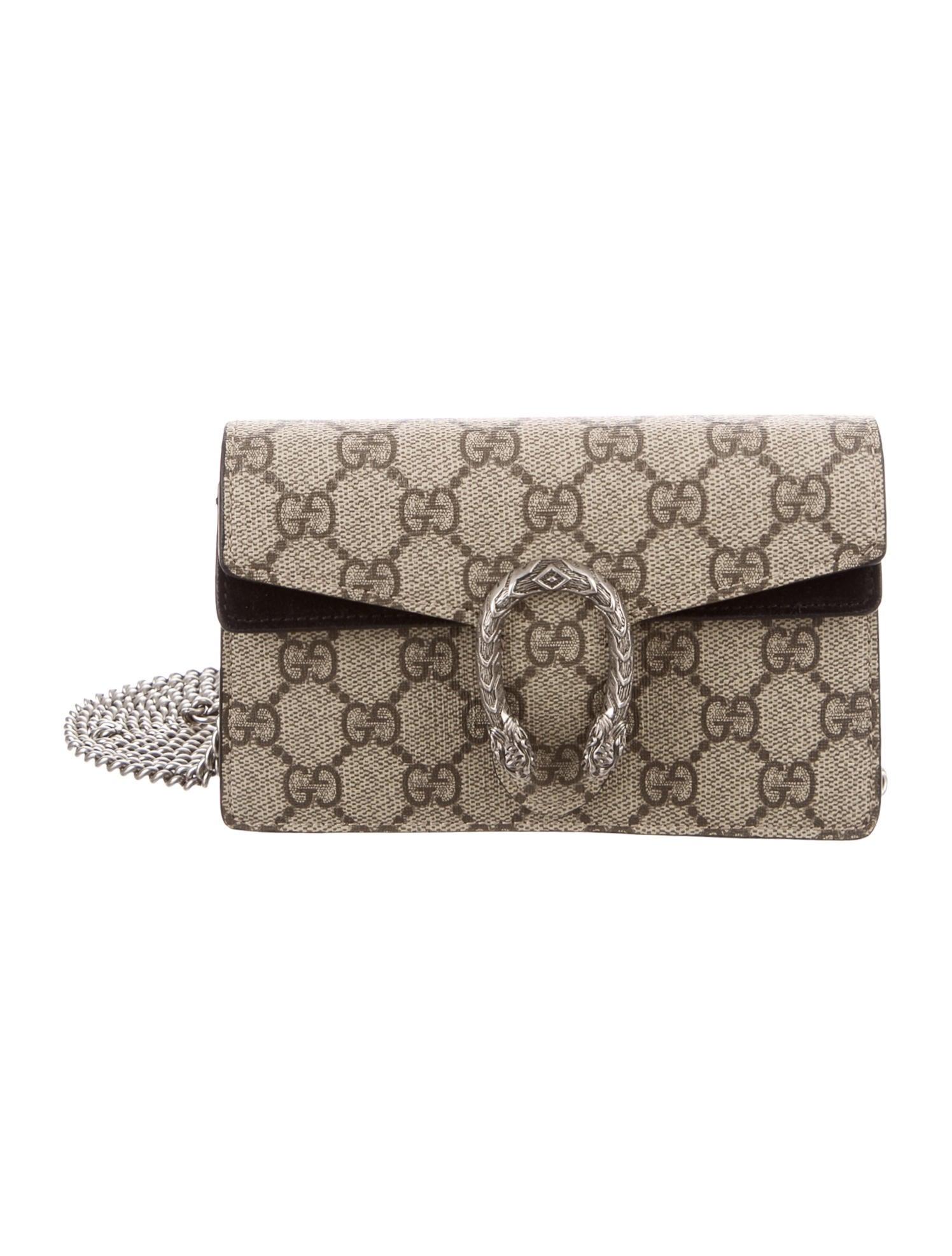 741a9620a21cc Gucci Dionysus GG Supreme Super Mini Bag - Handbags - GUC178894 ...