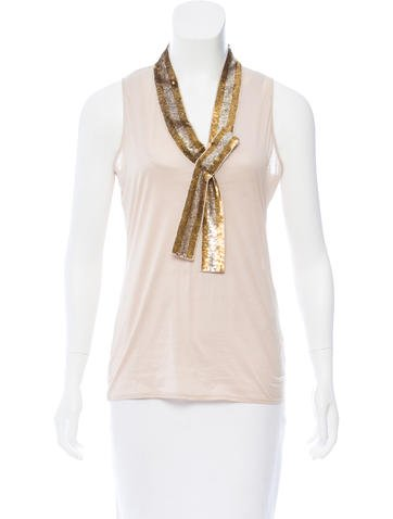 Gucci Embellished Sleeveless Top None