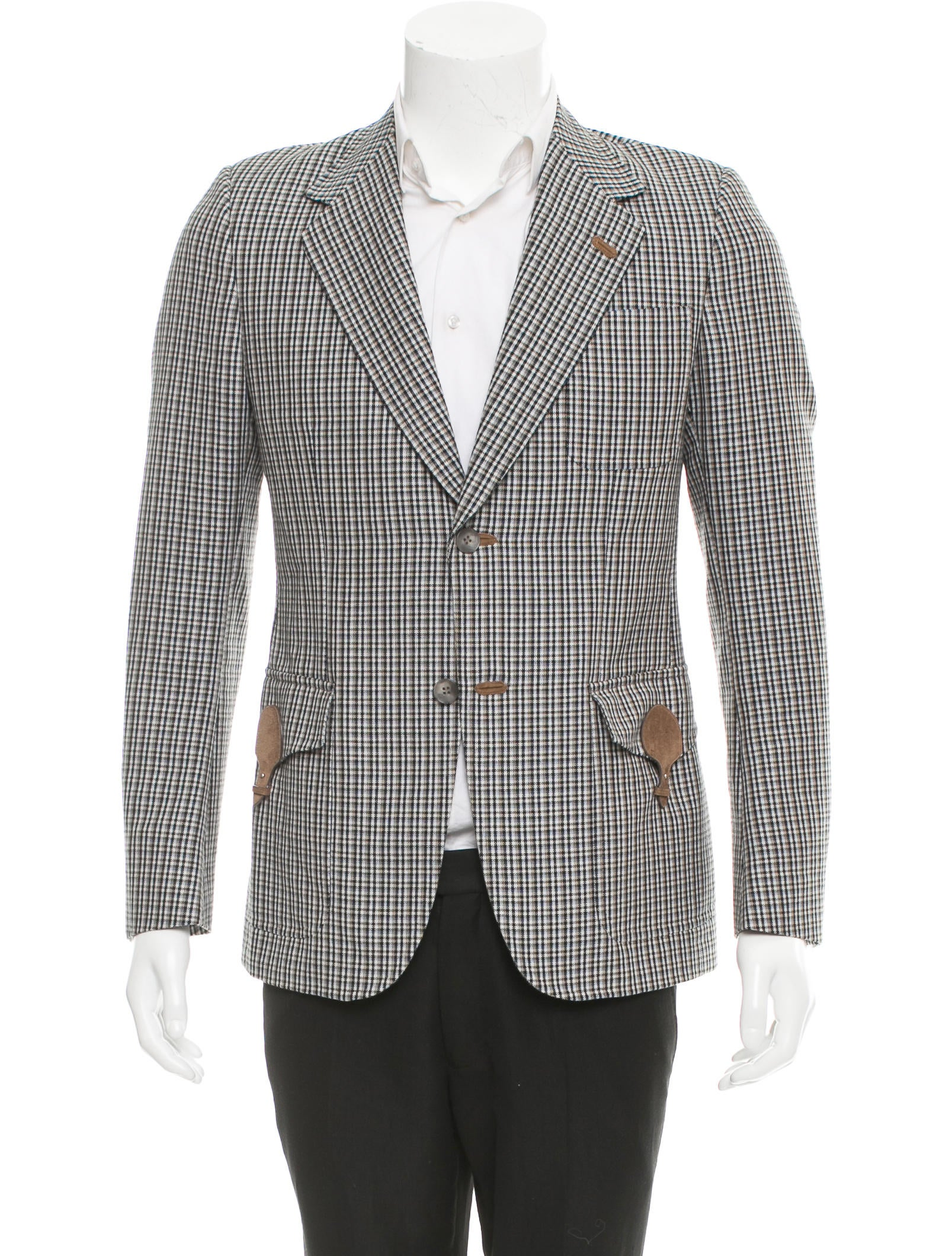 Gucci Suede-Trimmed Sport Coat - Clothing - GUC180179 | The RealReal