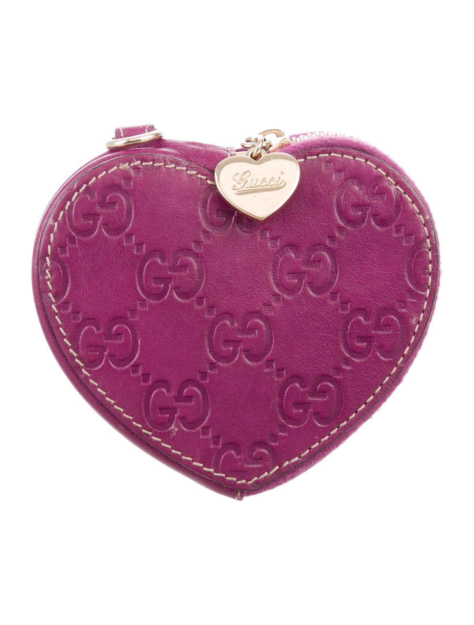 867a1142b6e6 Gucci Guccissima Heart Coin Pouch - Accessories - GUC180273   The ...