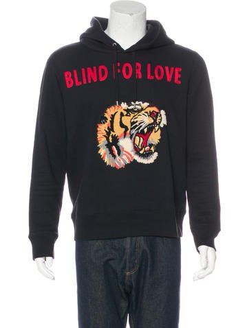 Gucci 2017 Blind For Love Tiger Hoodie None